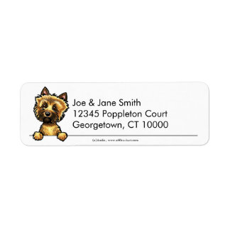 Mojón Terrier limpio y simple Etiqueta De Remite