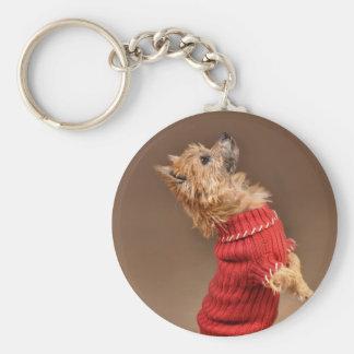 Mojón Terrier lindo Llavero Personalizado