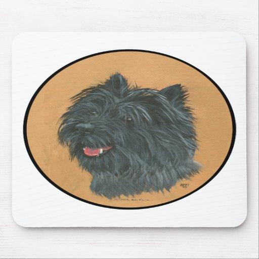 Mojón Terrier negro Tapete De Ratones