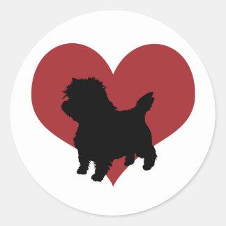 Mojón Terrier Etiquetas Redondas