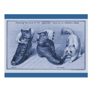Mojón Terrier que tira de la cola de gatos Postales