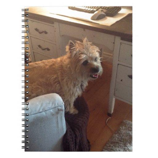 Mojón Terrier sonriente Libro De Apuntes Con Espiral