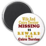 Mojón Terrier y recompensa que falta de la esposa  Imán Para Frigorífico