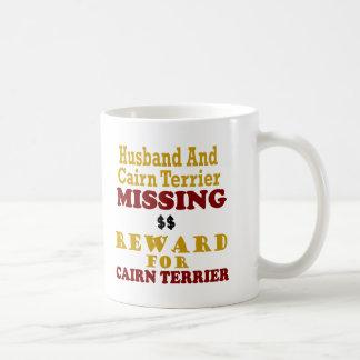 Mojón Terrier y recompensa que falta del marido po Taza Básica Blanca