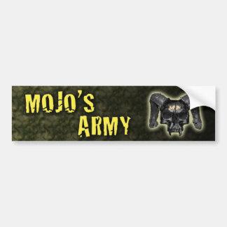 Mojo's Army Camo Bumper Sticker Car Bumper Sticker