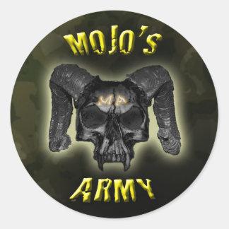 Mojo's Army Camo Skull Stickers