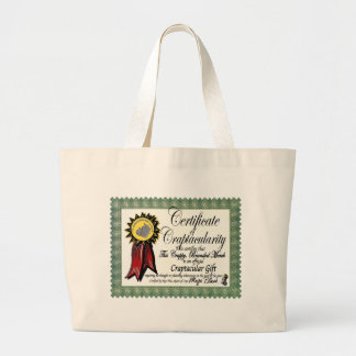 Mojo's Craptacular Certificate Merch Tote Bag