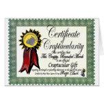 Mojo's Craptacular Certificate Merch Greeting Card