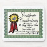 Mojo's Craptacular Certificate Merch Mousepads