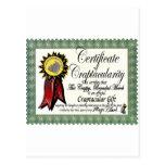 Mojo's Craptacular Certificate Merch Post Card
