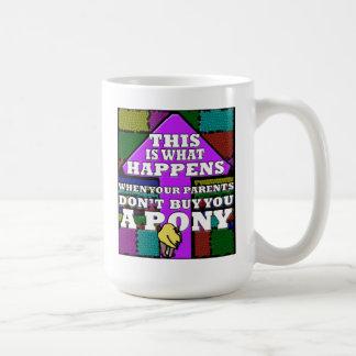 Mojo's Pony Warning! Mugs