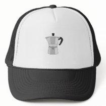 Moka coffee pot trucker hat