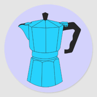 Moka Espresso Coffee Pot Classic Round Sticker
