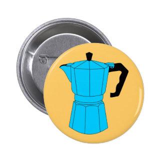 Moka Espresso Coffee Pot Pinback Button