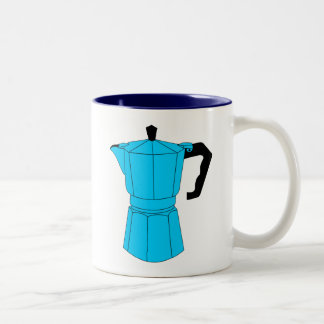 Moka Espresso Coffee Pot Two-Tone Coffee Mug