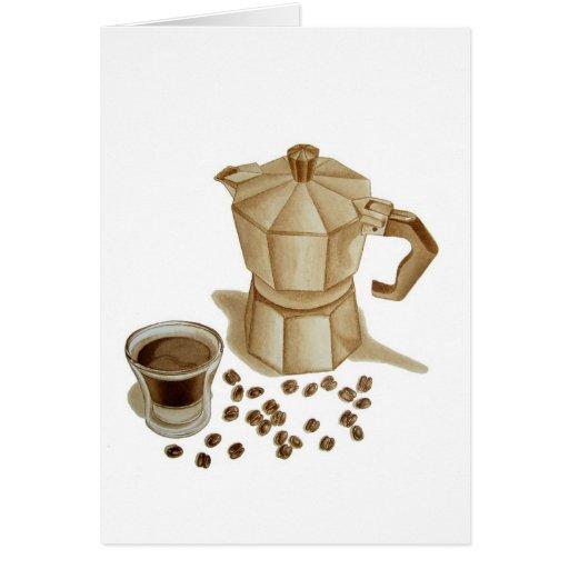 Moka Pot with Espresso Shot Card