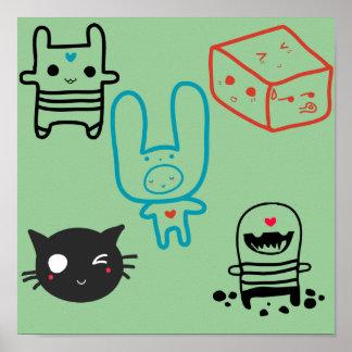 Mokiyo Mokiyo characters! Poster