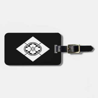 Mokko in rhombus luggage tag