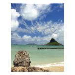 Mokoliʻi o el gorra del Chinaman apagado de Oahu 2 Membrete A Diseño