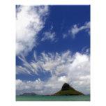 Mokoliʻi o el gorra del Chinaman apagado de Oahu Membrete A Diseño
