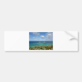 Moks off the shore of Lanikai Bumper Sticker