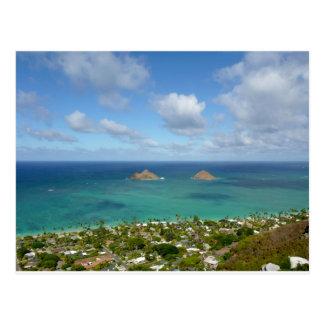 Moks off the shore of Lanikai Postcard