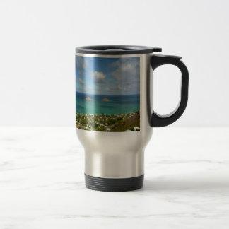 Moks off the shore of Lanikai Travel Mug