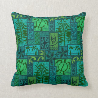 Moku Malihini blue Throw Pillow