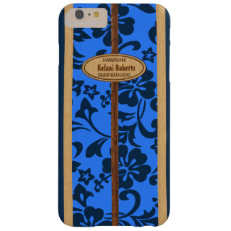 Mokuleia Hawaiian Faux Wood Monogram Surfboard Barely There iPhone 6 Plus Case