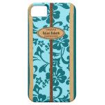 Mokuleia Hawaiian Faux Wood Monogram Surfboard iPhone SE/5/5s Case