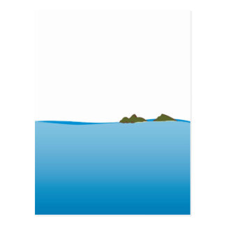 Mokulua Islands Illustration Postcard