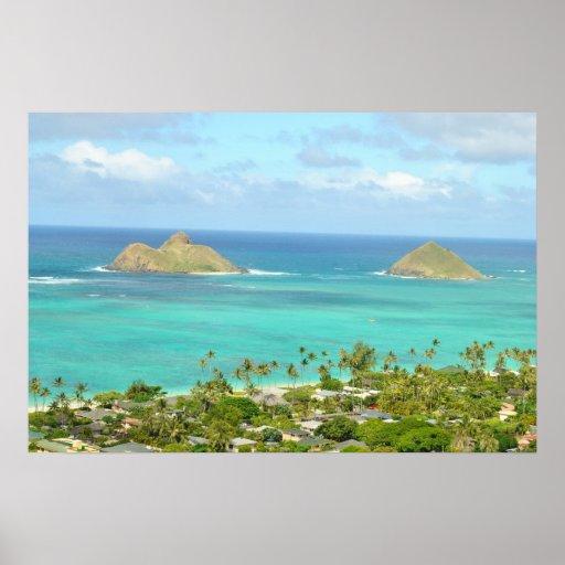 Mokulua Islands Poster