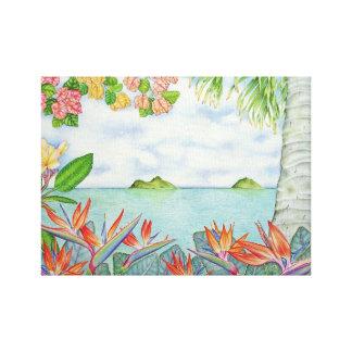 Mokuluas, Lanikai, Oahu, Hawaii Canvas Print