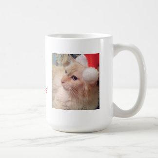 ¡MOL! Taza del gato del navidad
