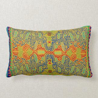 Mola Bird Design Lumbar Pillow