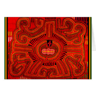 Mola Design by San Blas Indians Card