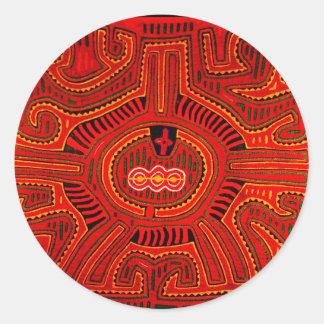 Mola Design by San Blas Indians Classic Round Sticker