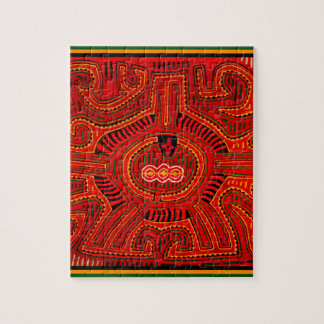 Mola Design by San Blas Indians Jigsaw Puzzle