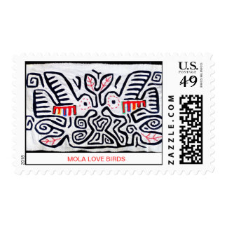 Mola Love Birds Stamp