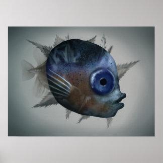 Mola Mola Larva - Wildlife Artwork Poster 18x24