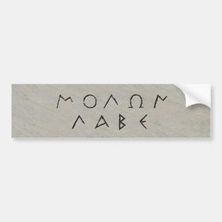 Molan Labe Bumper Sticker