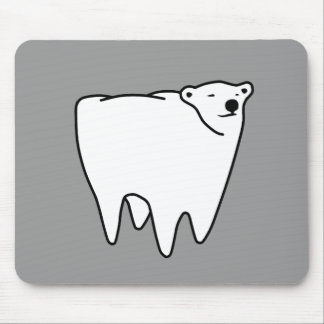Molar Bear Polar Tooth Bear Mouse Pad