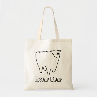 Molar Bear Polar Tooth Bear Tote Bag