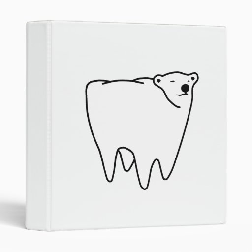 Molar Bear Polar Tooth Bear Vinyl Binder
