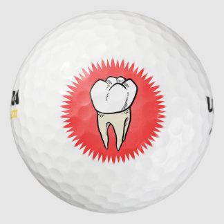 Molar freshly extracted golf balls
