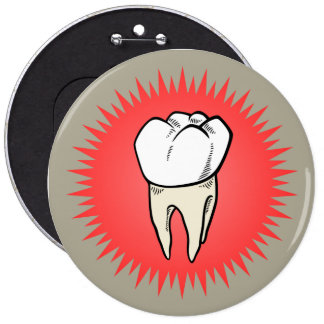 Molar freshly extracted pinback button