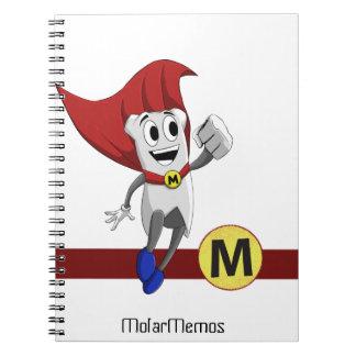 """""""Molar Memos"""" Mighty MolarMan® Notebook"""