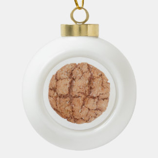 Molasses Cookie Ceramic Ball Ornament / Bell Back