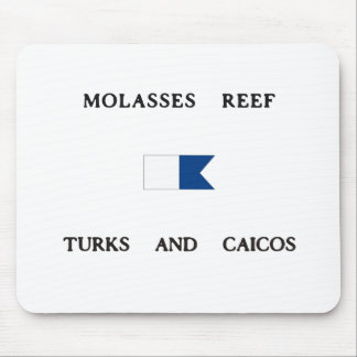Molasses Reef Turks and Caicos Alpha Dive Flag Mouse Pads