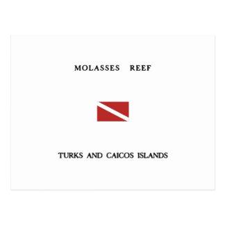Molasses Reef Turks and Caicos Islands Scuba Dive Postcard